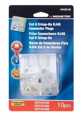 PLUG CRIMP CAT6 10PK by MONSTER JHIU MfrPartNo 140168-00 by Monster