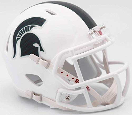 Riddell NCAA Michigan State Spartans Helmet Mini SpeedHelmet Replica Mini Speed Style 2017 Alternate, Team Colors, One Size ()