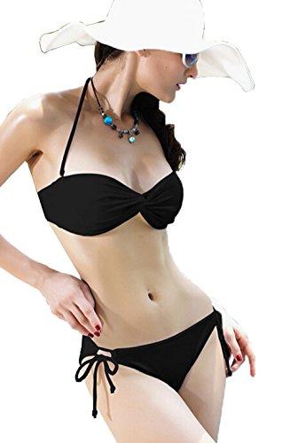 Tamari Beachwear Damen Bikini-Set Schwarz Schwarz Gr. 32, Schwarz - Schwarz
