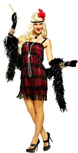 Red And Black Fifth Avenue Flapper Costume - Womens Small (4-6)