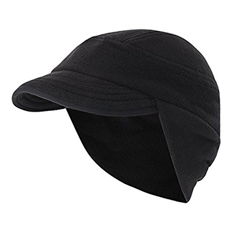 Surblue Outdoor Winter Warm Skull Cap Windproof Fleece Earflap Hat with Visor