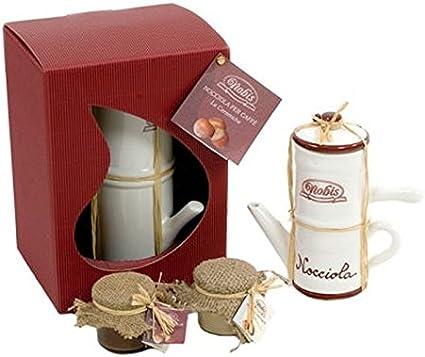 cafetera napolitana con 2 jarrones de cerámica crema de avellanas ...