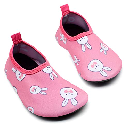 Giotto Kids Swim Water Shoes Quick Dry Non-Slip for Boys & Girls, G015E-Pink, 22-23