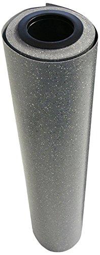 Rubber-Cal Terra-Flex Premium 2mm Flooring Rolls, Slate Stone, 4 x 25-Feet (Custom Length Matting)