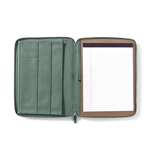 Leatherology Executive Zippered Portfolio with Interior iPad Pocket - Full Grain Leather Leather - Dusk (blue) by Leatherology