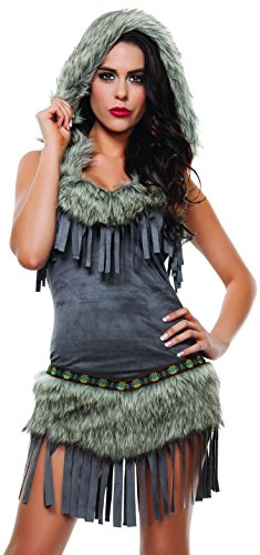 Sexy Tribal Princess Costumes (Starline Women's Tribal Princess Sexy Costume Dress, Grey, Small)