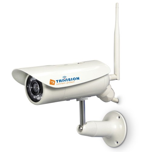 TriVision NC-306W Wired Wireless Weatherproof Home Seurity Camera Oudoor waterproof system, 15m IR Night Vision, Motion Sensor, Micro SD card DVR expandable to 32Gb, Motion Detection triggered alarms Uploaded to PC or Email Account on Smartphone and more.