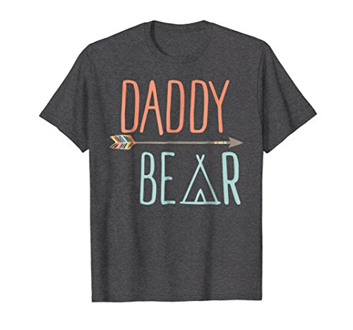 Mens Arrow Tribal Daddy Bear Shirt Father's Day Shirt XL Dark (Daddy Arrow)
