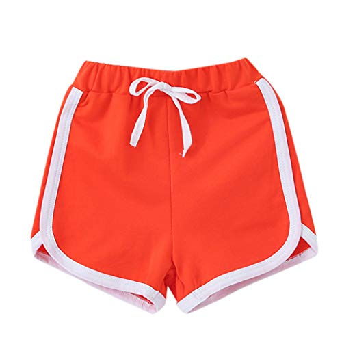 iZHH Summer Shorts for Children Boy Girl Candy Colors Casual Shorts Elastic Waist Pants Clothes -
