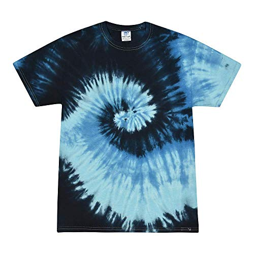 (Colortone Tie Dye T-Shirt XL Blue)