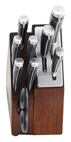 Calphalon 10 Piece Precision Space-Saving Self-Sharpening Cutlery Set, (10 Piece Cutlery Set)