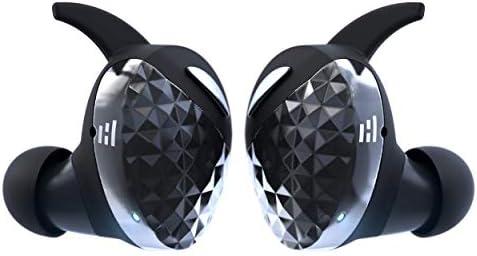 HELM True Wireless Bluetooth 5.0 Headphones, Earbuds, Audiophile HiFi Sound, Qualcomm aptX, Comfort Secure Fit, Sport Sweatproof, 6 Hrs Play Time +30 Hrs w/Charging Case, Dual Mics, Auto-Pairing