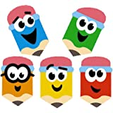 Trend Superspot Lot de 800 mini autocollants pour enfant Motif crayons