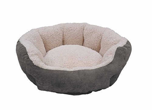 paws-claws-franklin-textured-soft-micro-fiber-round-cuddler-pet-bed-25-inch-by-23-inch-charcoal
