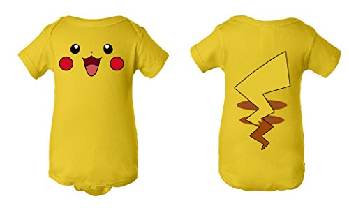 Tee Tee Monster Baby Pikachu Pokemon Inspired Onesie (3 months, yellow)