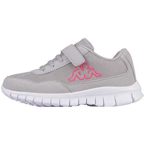 Kappa Apollo Kids, Zapatillas Para Niñas Grau (1422 l´grey/Pink)