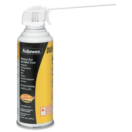 Fellowes 99790 Disposable Air Duster, Nonflammable, Extension Tube, 10 oz