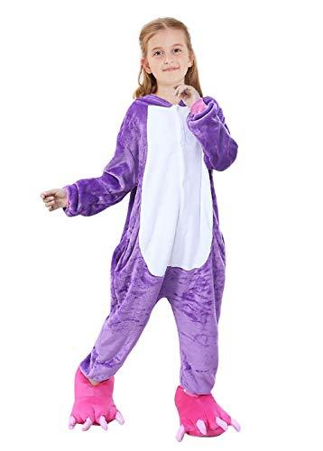 OPCOLV Kids Girls Unicorn Animal One-Piece Loungwear Plush Hoody Button Down Sleepwear Pajamas 6t 7t Children Loose Nightwear Halloween Party Cosply Costume for Teenager 5-7