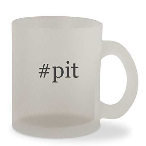 #pit - 10oz Hashtag Sturdy Glass Frosted Coffee Cup Mug