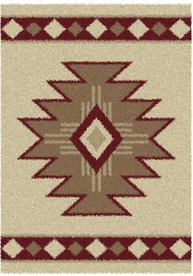 Aurora Southwest Icon (United Weavers Aurora Southwest Icon V Ivory Shag Rug 5'3