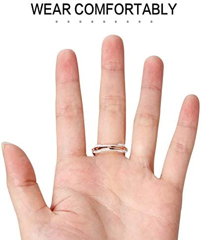 12Pcs Ring Size Adjuster for Loose Rings, Invisible Clear Ring Sizer with 6 Sizes Clear Ring Sizer Resizer