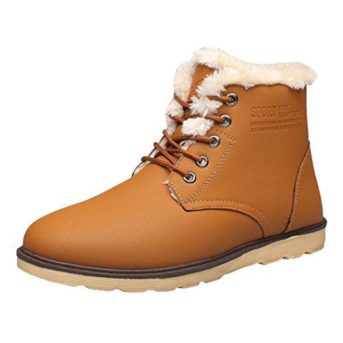 e5c4d9f0316f2 Bottes d hiver Classiques pour Homme - Juleya Bottines de Doublées Chaudes  de Coton Plateforme