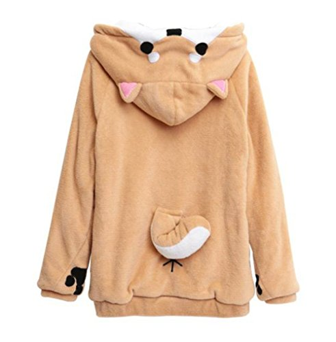 Anime Hooded Hoodies Women Sweatshirts With Ears Cute - Doge Sweatshirt
