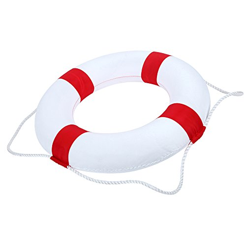 - LAB OUTLET 20in diameter Foam Swim Rings - Children Swimming Pool Lifebuoy Safety Life Preserver with Perimeter Rope
