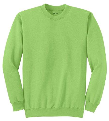 Joe's USA tm Adult Classic Crewneck Sweatshirt, M -Lime
