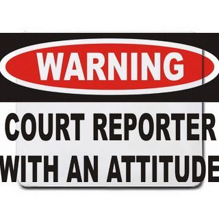 Warning: Court Reporter with an attitude Mousepad [Office Product] by T-ShirtFrenzy [並行輸入品] B00VVZ0MWE