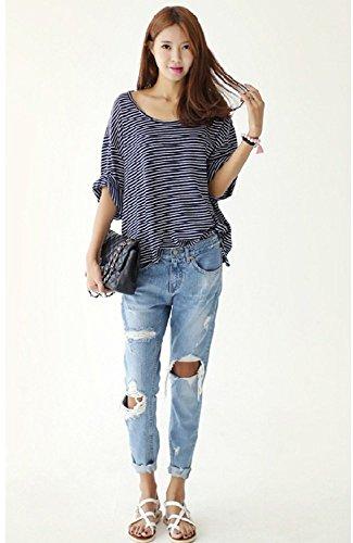 Distrutti Low One Color Rise Donna Pantaloni Jeans Minetom Da xpwCqHqa