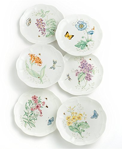 Lenox Butterfly Meadow Accent Plates, Assorted Set of 6