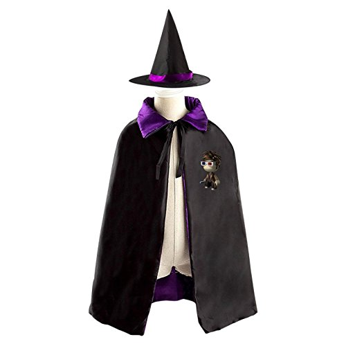 Lovely Doll Dr. Children's Halloween cape Including WizardCap/Witches/Mantle/Cloak+Hat