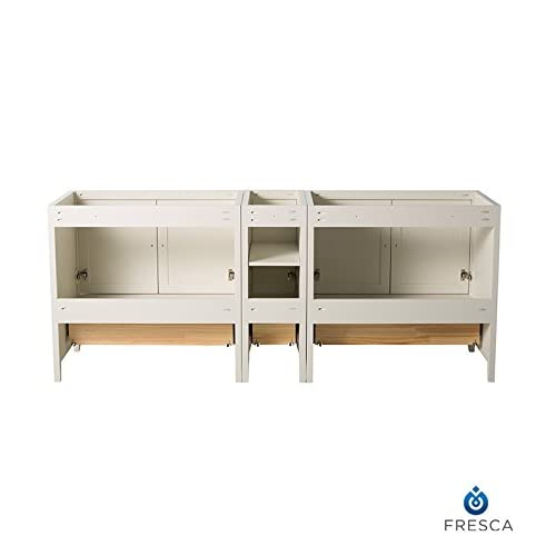 "Fresca FCB20-361236AW-CMB Oxford 83"" Antique White Traditional Double Sink Bathroom Cabinets chic"