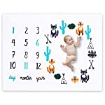 FLY-SPRAY-Baby-Monthly-Milestone-Blanket-Photography-Props-Backdrop-for-Newborn-Photo-Prop-Lovely-Cute-Fox-Thick-Growing-Memory-Infant-Age-Days-Monthly-Years-Baby-Boy-and-Girl-Shower-Unique-Gifts