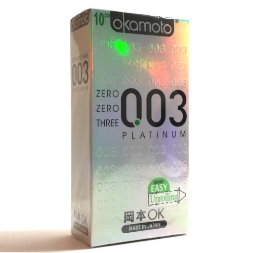 Condoms Platinum 003 Okamoto 2 box (2 x 10) 20 Pieces