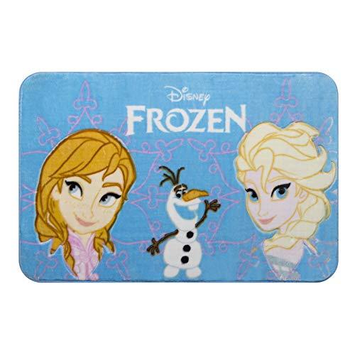 Tapete Orient Disney Frozen Ii, 70 X 110 Cm Jolitex Azul Médio