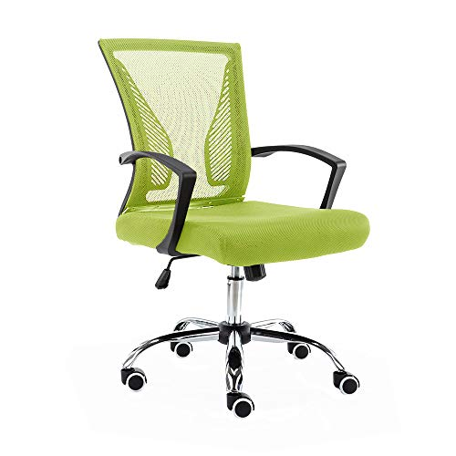 Modern Home BKLIME Zuna Mid-Back Office Chair, Black/Lime