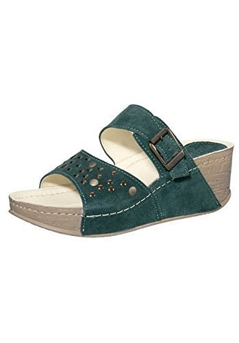 Clogs Ladies made of suede by Dr. Feet in Green Green rPTAQeyQ