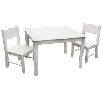 guidecraft - set tavolo e 2 sedie per bambini, colore: bianco ... - Set Tavolo E Sedie Cucina