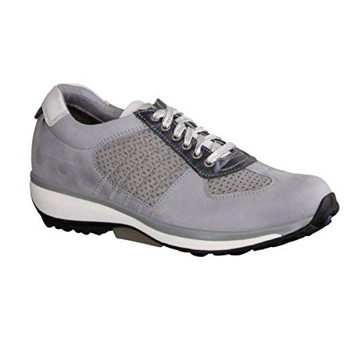 X sensible England 300011801 - Zapatos cómodos / relleno suelto Zapatos mujer Cómodo Zapatos de cordones, Gris, piel ceñida