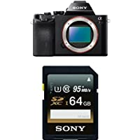 Sony a7R Full-Frame Interchangeable Digital Lens Camera - Body Only with Memory Card