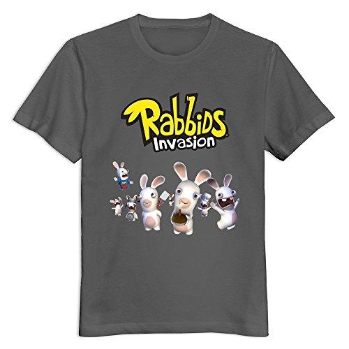 YWT Rabbids Invasion Logo Male T Shirts Pre-cotton Funny DeepHeather (Rabbids Invasion Halloween)