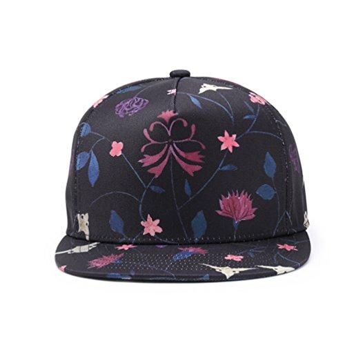 Para Y Mujer Outdoor Ajustable Plana Yuanu Imprimir De Sombrero Multicolor Béisbol Visera Casual Gorra Flores Hombre xP6pwO