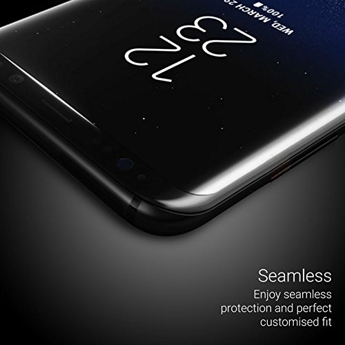 Samsung Galaxy S9 Plus Screen Protector - Case Friendly/Cover Compatible - Tempered Glass - Olixar - 9H Hardness, Anti Scratch, Bubble Free, Anti Fingerprint - Black