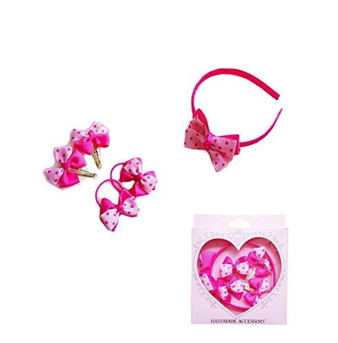 Ysiop Girls Hairpin Bobby Pin Alligator Clips Hair Bow Tie Headband Set Gift Box (Halloween Safety Rhymes)