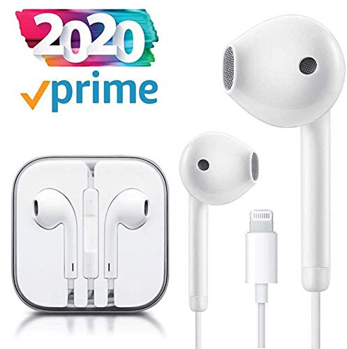 Lighting Earbuds/Earphones/Headphones Connector Wired Headset with Microphone and Volume Control,Compatible with iPhone 11 Pro Max/Xs Max/XR/X/7/8 Plus/iPod/iPad Min Chargers & Power Adapters.