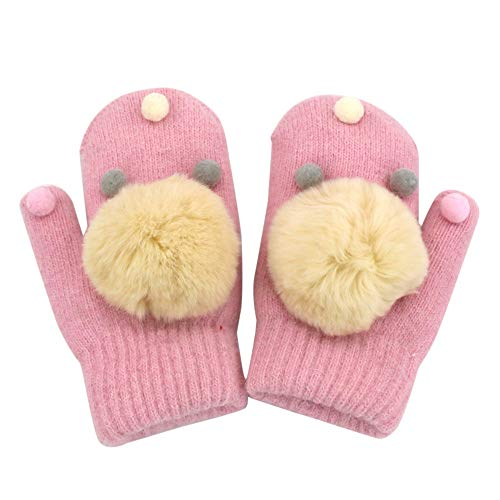 (HYIRI 2018 promotionNEW Fansion Cute Cartoon Thicken Hot Infant Baby Girls Boys Of Winter Warm Gloves)