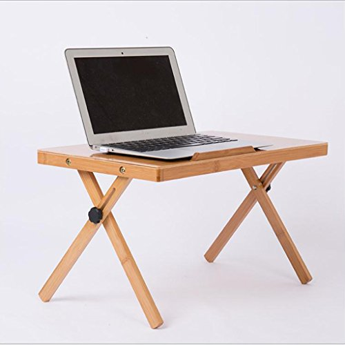 GFL Bamboo Computer Table Folding Laptop Desk Bed Small Tables Dormitory Simple Desk Study Desks Computer Tables by GFL