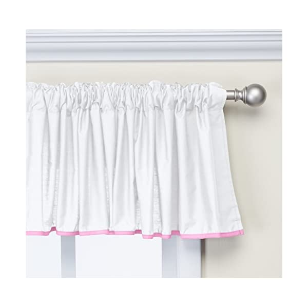 Baby Doll Bedding Forever Mine Junior Window Valance, Pink